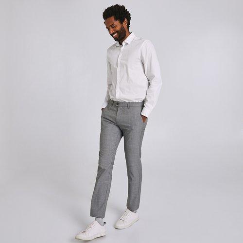 Pantalon chino slim carreaux fenêtre - Brice - Modalova