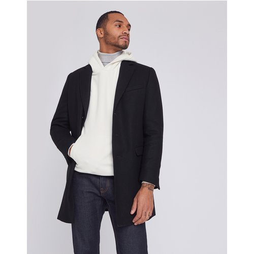 Manteau long en laine italienne majoritaire - Brice - Modalova