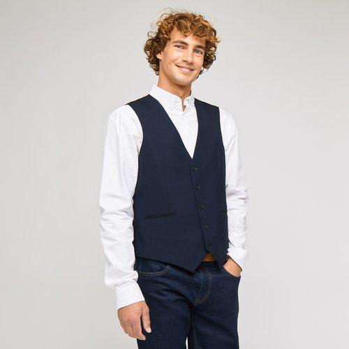 Gilet de costume slim Bleu Homme - Brice - Modalova