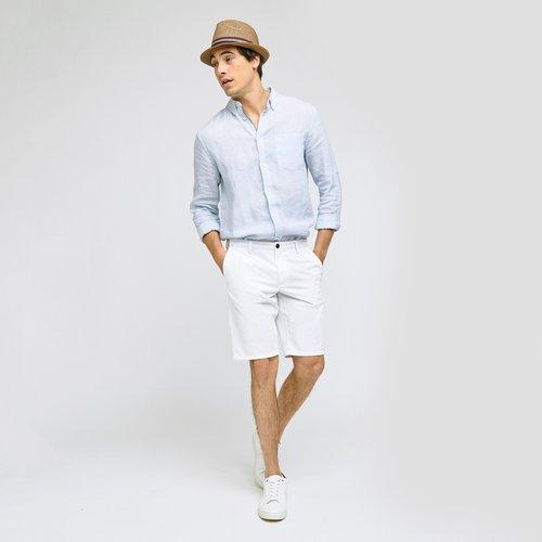 Bermuda Chino uni Blanc Homme - Brice - Modalova
