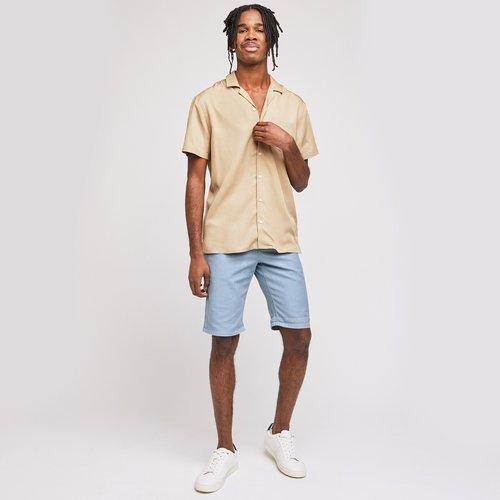 Bermuda chino faux uni Bleu Homme - Brice - Modalova