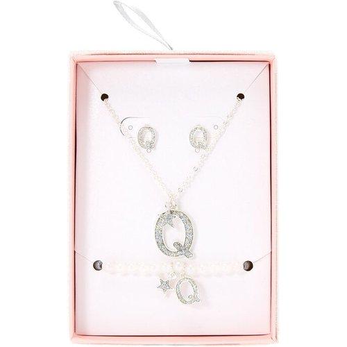 Parure de bijoux couleur à paillettes irisées lettre Q - Claire's - Modalova