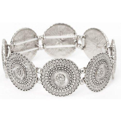 Bracelet élastique médaillon filigrane couleur - Claire's - Modalova