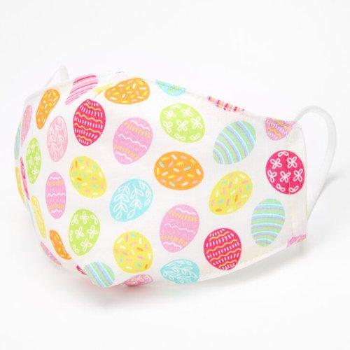 Masque en coton coloré œufs de Pâques - Adulte - Claire's - Modalova