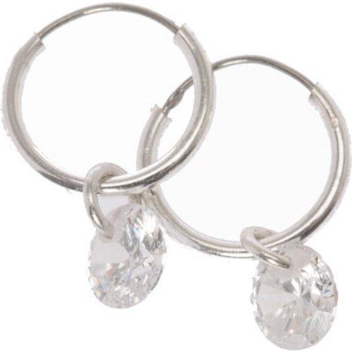 Mini créoles couleur avec perle d'imitation pendante en strass - Claire's - Modalova