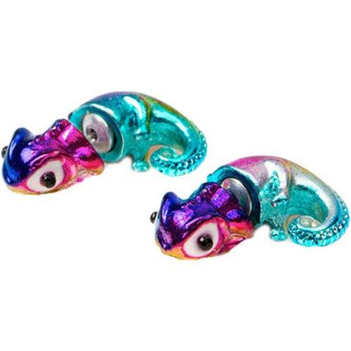 Boucles d'oreille caméléon inversées -- métallique - Claire's - Modalova
