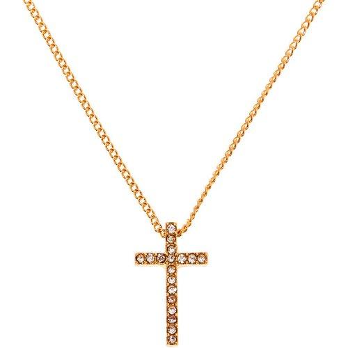 Collier à pendentif croix couleur - Claire's - Modalova