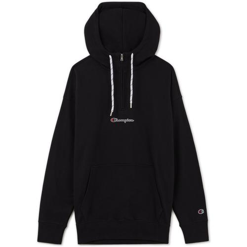 Hoodie Demi Zip Small Logo Noir - Champion - Modalova
