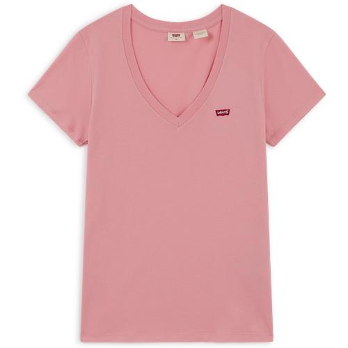 Tee Shitrt Vneck Small Logo Rose - Levis - Modalova