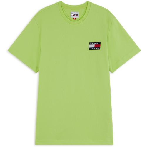Tee Shirt Tjm Badge Vert - Tommy Jeans - Modalova