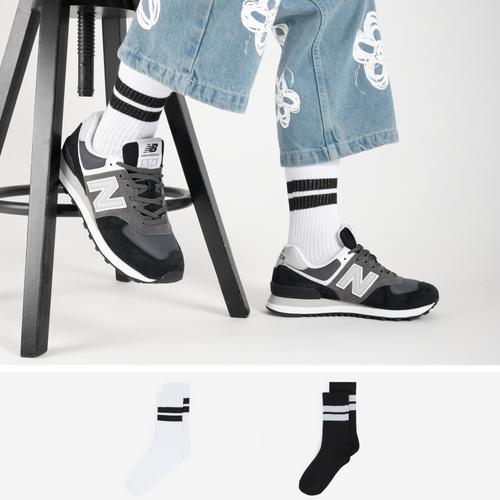 Pack Chaussettes Stripes Basique X2 / 35/38 Unisex - COURIR - Modalova