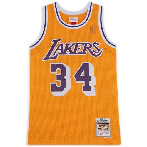 Debardeur Tank Lakers Jaune/violet - Mitchell & Ness - Modalova