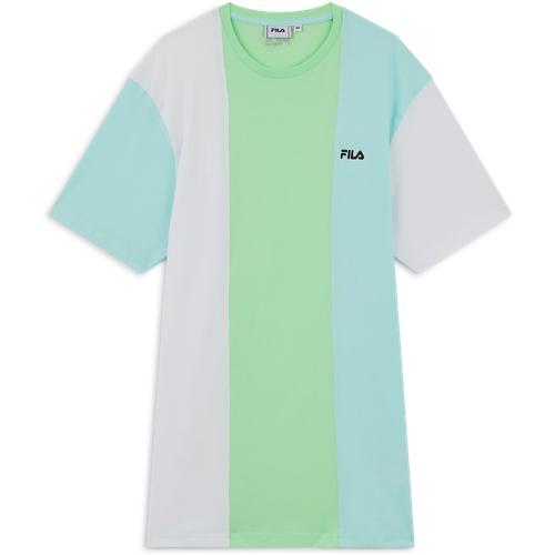 Tee Shirt Gideon Blanc/bleu/vert - Fila - Modalova