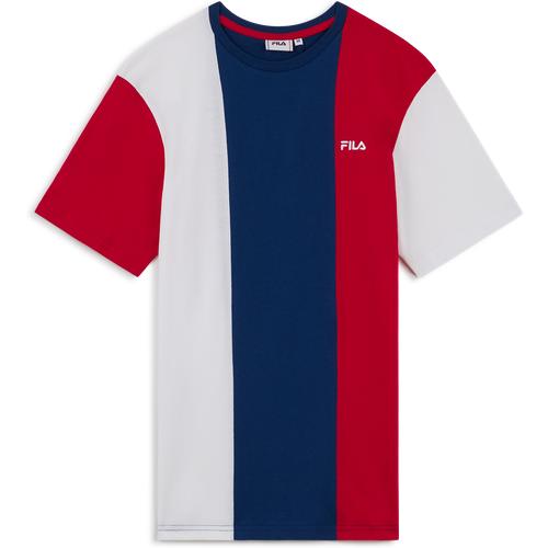 Tee Shirt Gideon Bleu/blanc/rouge - Fila - Modalova