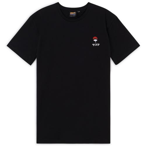 Tee Shirt Uchiha Noir - Naruto - Modalova
