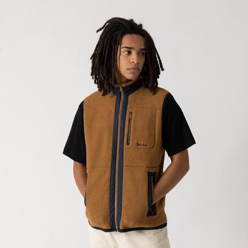 Jacket Gilet Mix Sherpa Flc Marron - Timberland - Modalova
