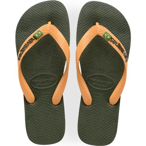 Brasil Logo Kaki/orange - Havaianas - Modalova