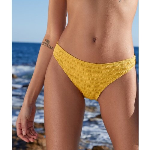 Culotte bikini smockée maillot de bain - LEMON - 44 -  - Etam - Modalova
