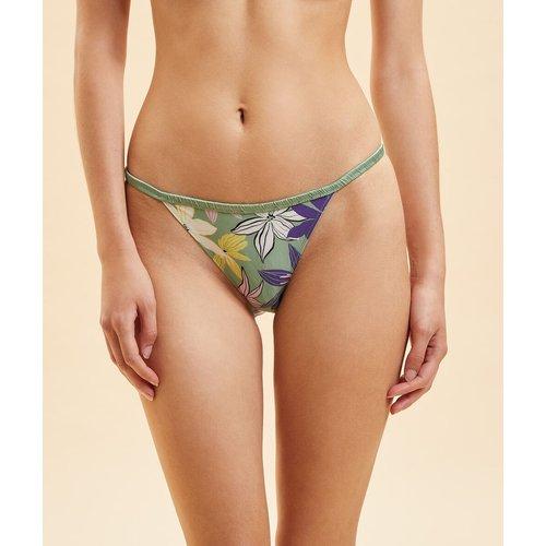 Culotte bikini imprimée dos dentelle - Tessa - XS - - Etam - Modalova