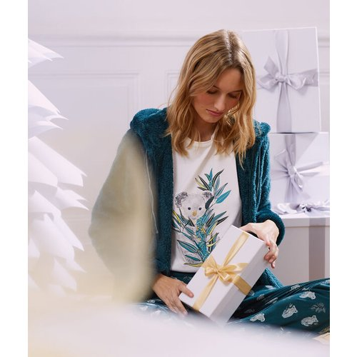 Pyjama 3 pièces imprimé, veste polaire - RAFAEL - L -  - Etam - Modalova