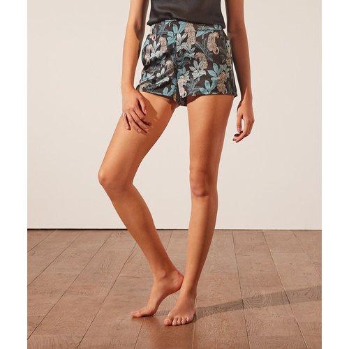 Short de pyjama satiné imprimé - Leopard - XL - - Etam - Modalova