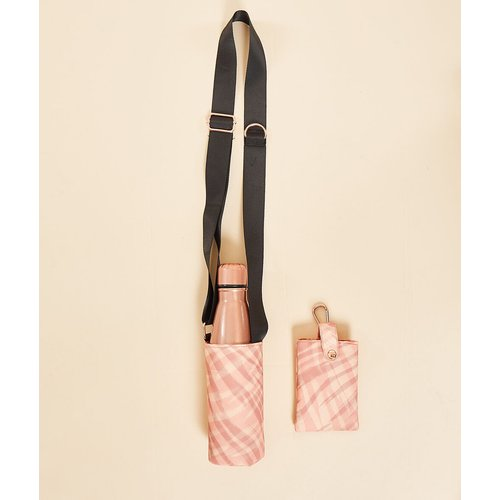 Gourde métallisée et sac bandoulière avec pochette téléphone - Evie - TU - - Etam - Modalova