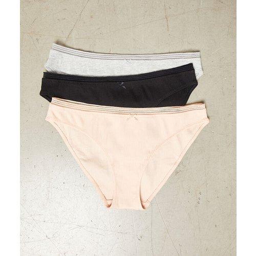 Lot de 3 culottes côtelées - JANE - XS -  - Etam - Modalova