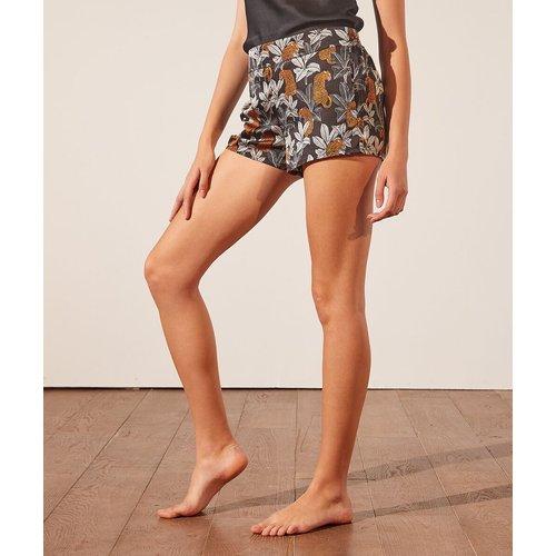 Short de pyjama satiné imprimé - Leopard - S - - Etam - Modalova