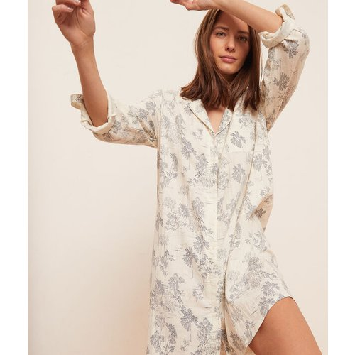 Chemise de nuit manches courtes imprimée - ALLY - XL -  - Etam - Modalova