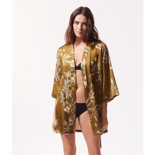 Kimono satiné imprimé fleuri - ERBAL - XS -  - Etam - Modalova