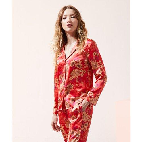 Chemise de pyjama satinée - CAROLIA - L -  - Etam - Modalova