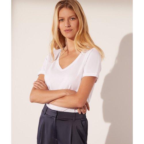 T-shirt col v - Maggie - XS - - Etam - Modalova