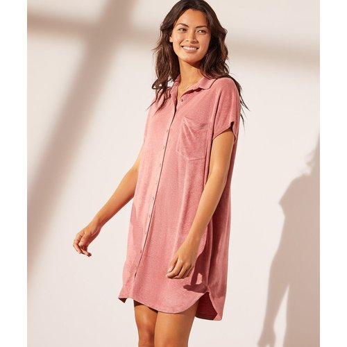 Robe chemise en velours éponge - Eloise - XS - - Etam - Modalova