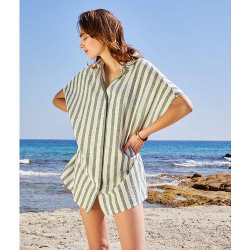 Robe chemise de plage à rayures - SUNNY - L -  - Etam - Modalova