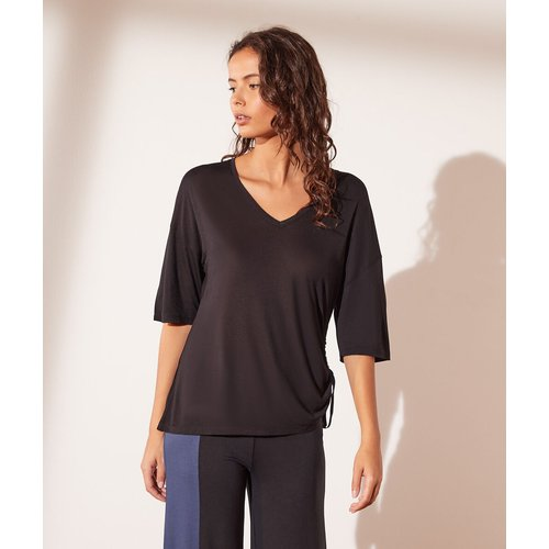 T-shirt manches 3/4 col v - Emmie - XS - - Etam - Modalova