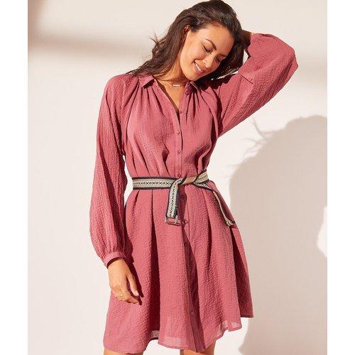 Robe chemise en gaze de coton - Ysmira - L - - Etam - Modalova