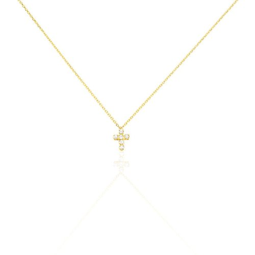 Collier Canice Croix Or Oxyde De Zirconium - Histoire d'Or - Modalova