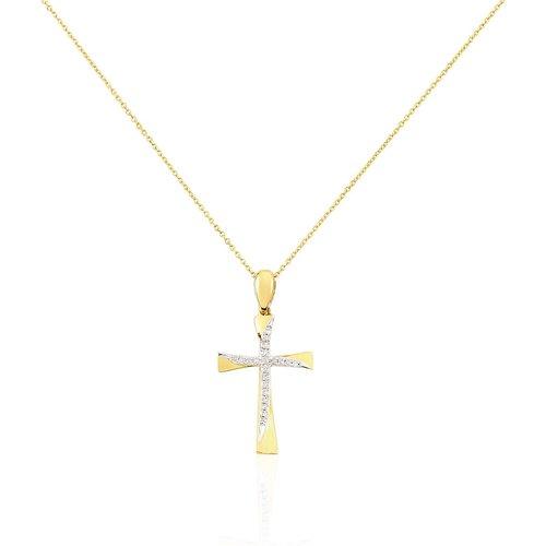 Collier Canice Croix Or Diamant - Histoire d'Or - Modalova