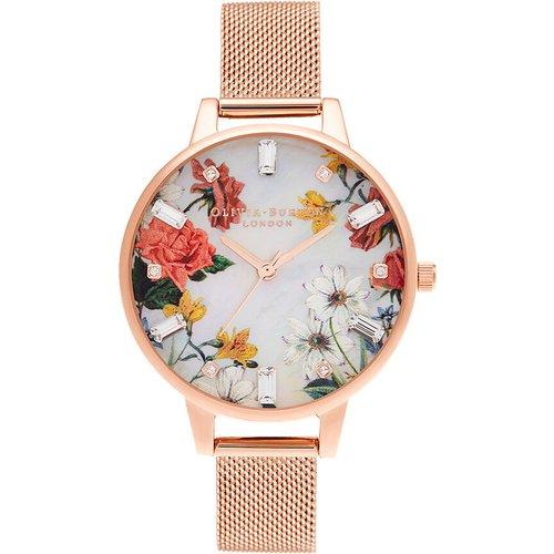 Montre Sparkle Florals Blanc - Olivia Burton - Modalova
