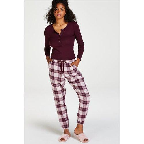 Petite pantalon de pyjama en sergé - Hunkemöller - Modalova