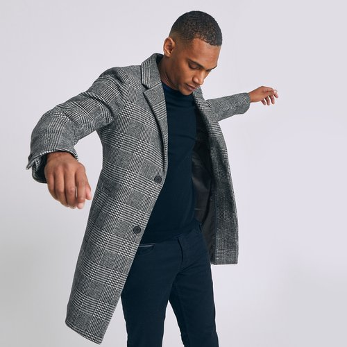 Manteau carreaux - clair - Jules - Modalova