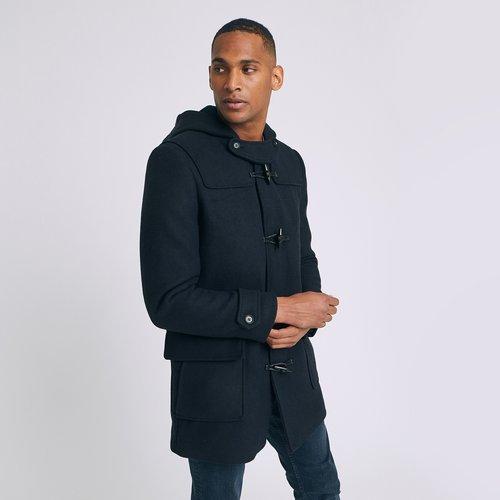 Manteau long en laine style duffle coat - mar - Jules - Modalova