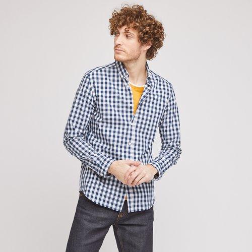 Chemise slim à carreaux coton - Jules - Modalova