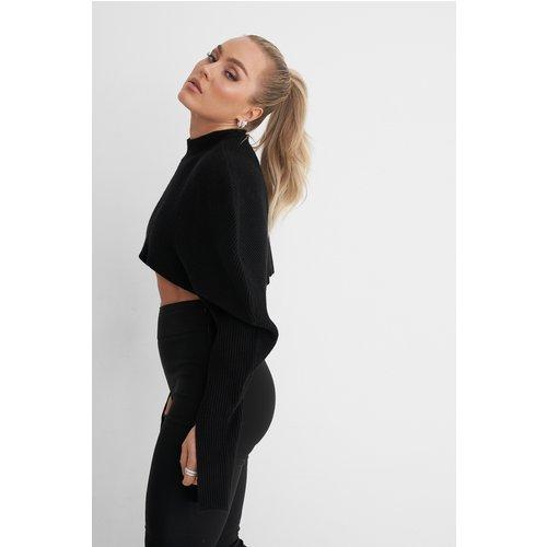Pull En Maille Court - Black - Angelica Blick x NA-KD - Modalova