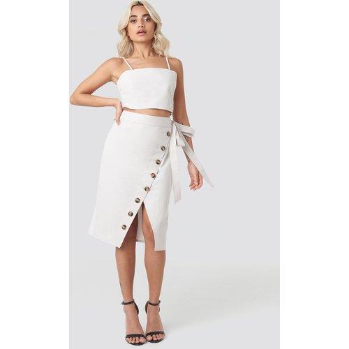 Belted Button Up Skirt - Beige - AFJ x NA-KD - Modalova
