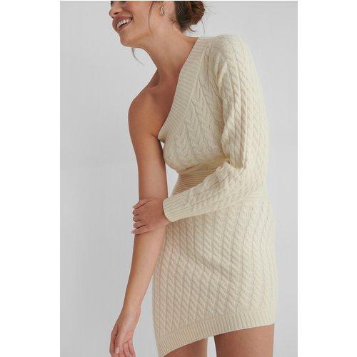 Mini Robe Tricotée - Offwhite - Andrea Badendyck x NA-KD - Modalova
