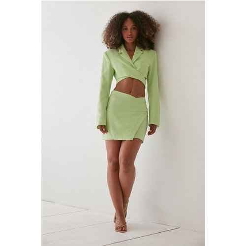 Design Chevauchant Jupe Crayon - Green - Angelica Blick x NA-KD - Modalova