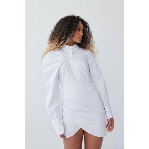 Robe À Manches Volume - White - Angelica Blick x NA-KD - Modalova