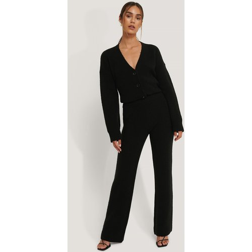 Pantalon En Tricot Taille Haute - Black - Anika Teller x NA-KD - Modalova