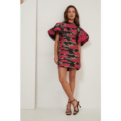 Volume Shoulder Mini Dress - Multicolor - NA-KD ART - Modalova